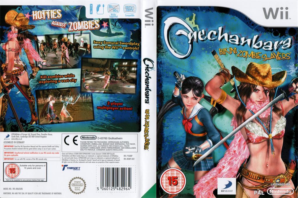 Onechanbara: Bikini Zombie Slayers Wii coverfullHQ (RONPG9)