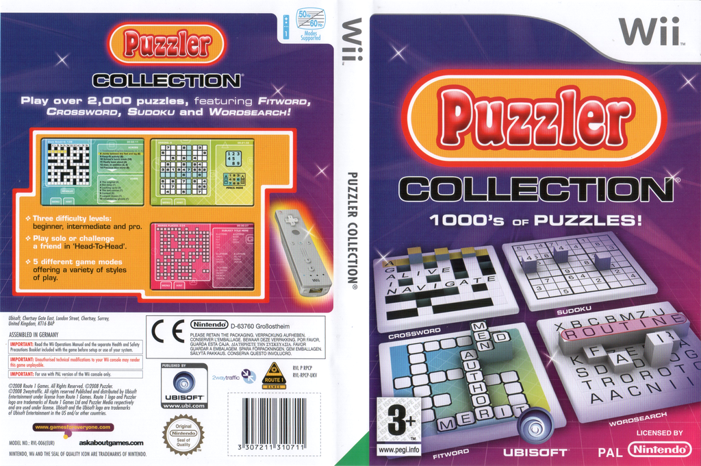 Puzzler Collection Wii coverfullHQ (RPCP41)