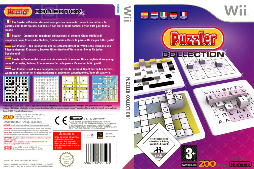 Puzzler Collection Wii coverfullHQ (RPCX7J)