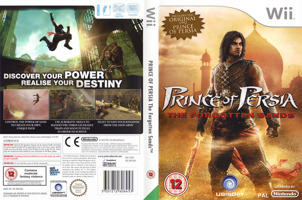Prince of Persia: The Forgotten Sands Wii coverfullHQ (RPWX41)
