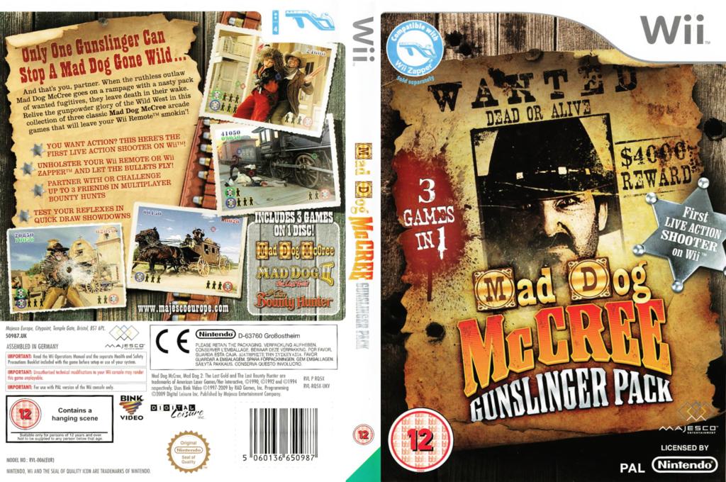 Mad Dog McCree Gunslinger Pack Wii coverfullHQ (RQ5X5G)