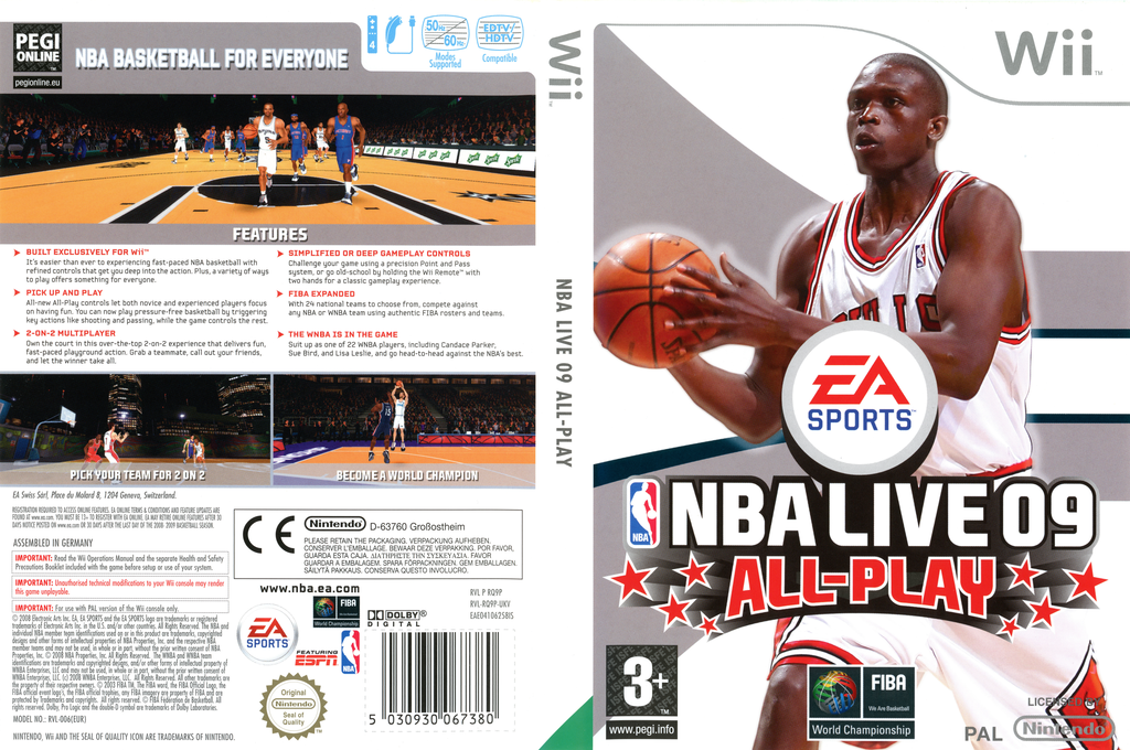 NBA Live 09 All-Play Wii coverfullHQ (RQ9P69)