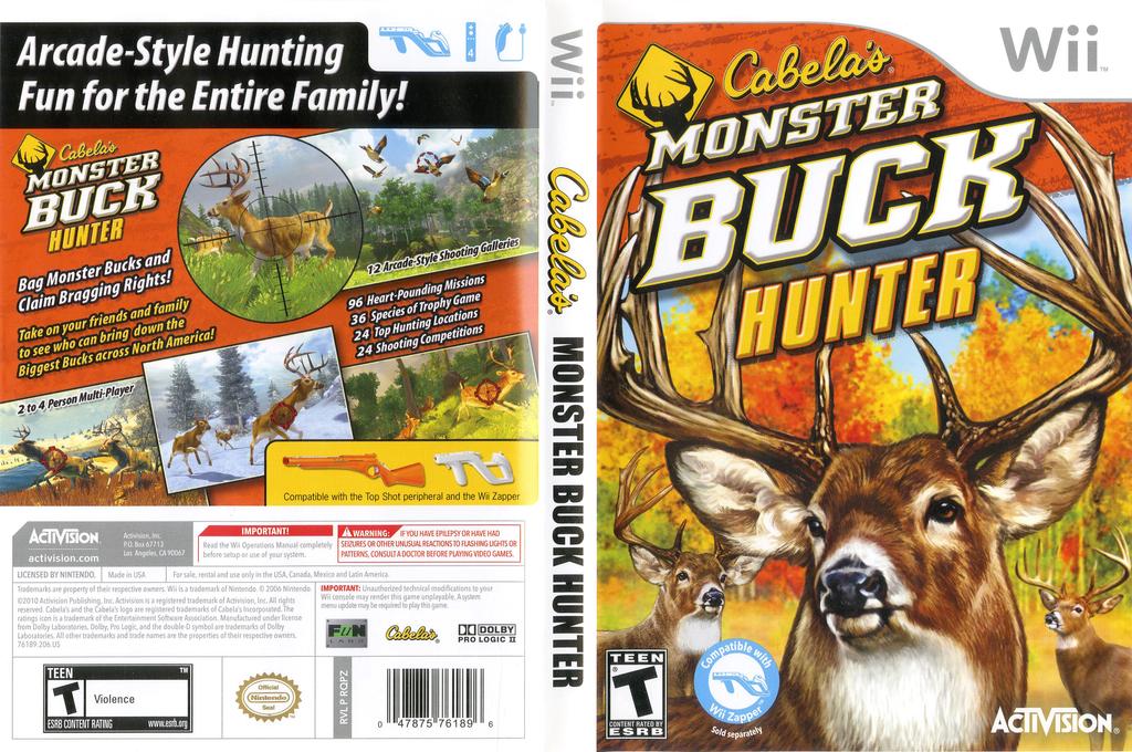 Cabela's Monster Buck Hunter Wii coverfullHQ (RQPZ52)