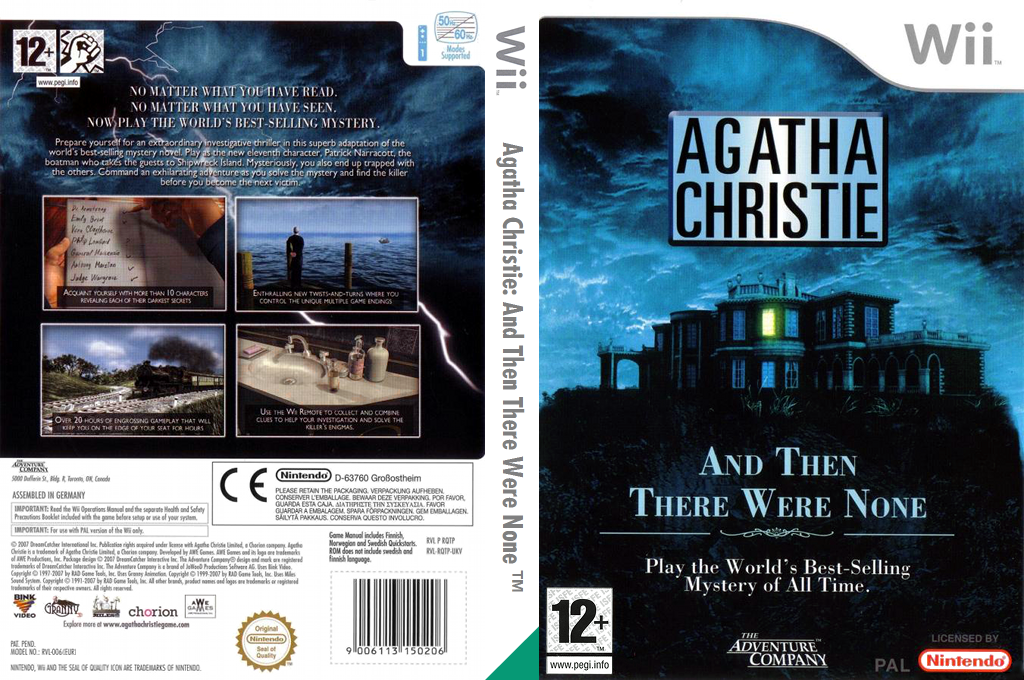 Agatha Christie: And Then There Were None Wii coverfullHQ (RQTP6V)