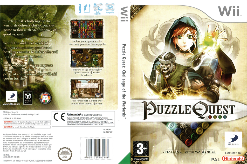Puzzle Quest: Challenge of the Warlords Wii coverfullHQ (RQWPG9)