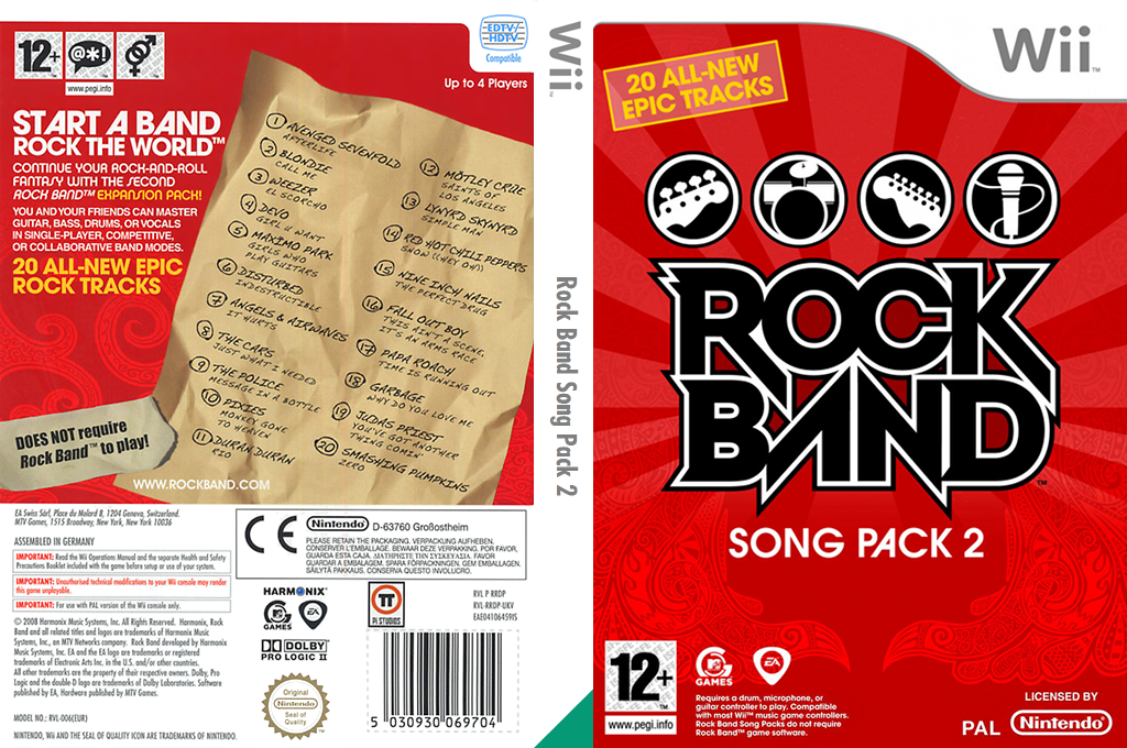 Rock Band Song Pack 2 Wii coverfullHQ (RRDP69)