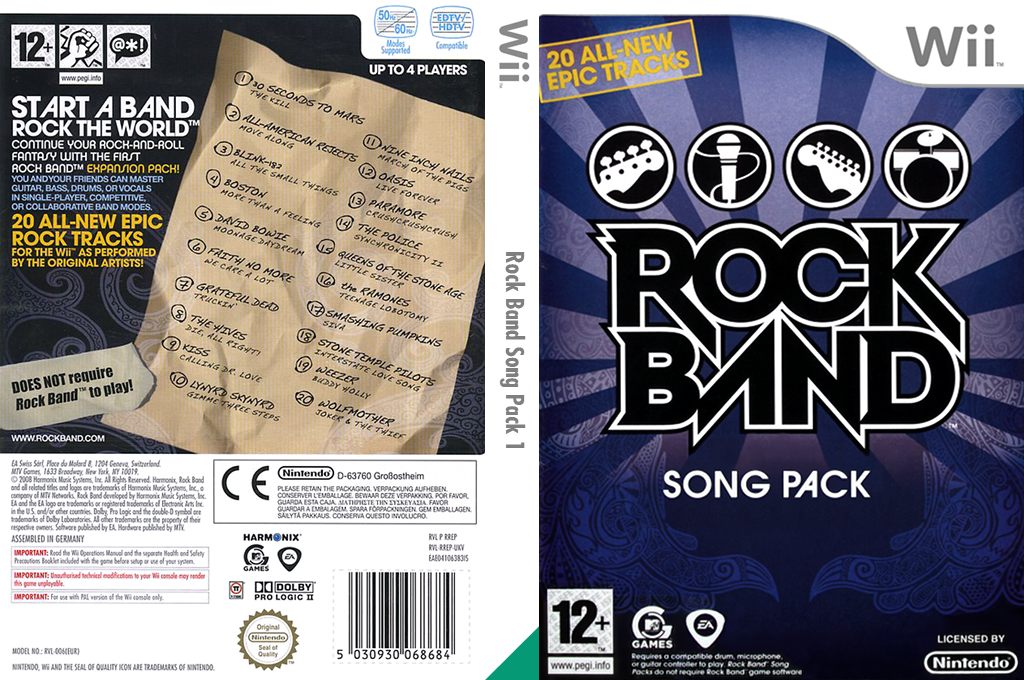 Rock Band Song Pack 1 Wii coverfullHQ (RREP69)