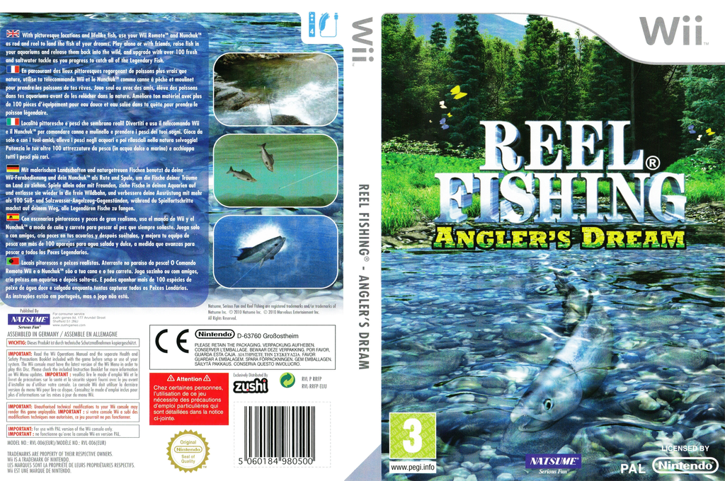 Reel Fishing: Angler's Dream Wii coverfullHQ (RRFPE9)