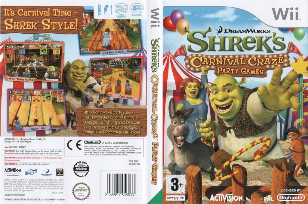 Shrek's Carnival Craze Party Games Wii coverfullHQ (RRQP52)