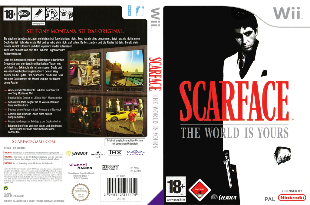 Scarface: The World Is Yours Wii coverfullHQ (RSCD7D)