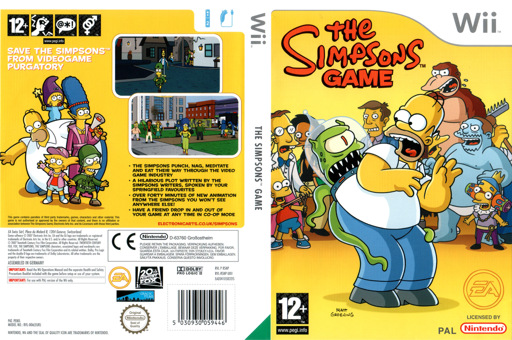 The Simpsons Game Wii coverfullHQ (RSNP69)