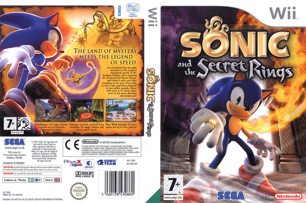 Sonic and the Secret Rings Wii coverfullHQ (RSRP8P)