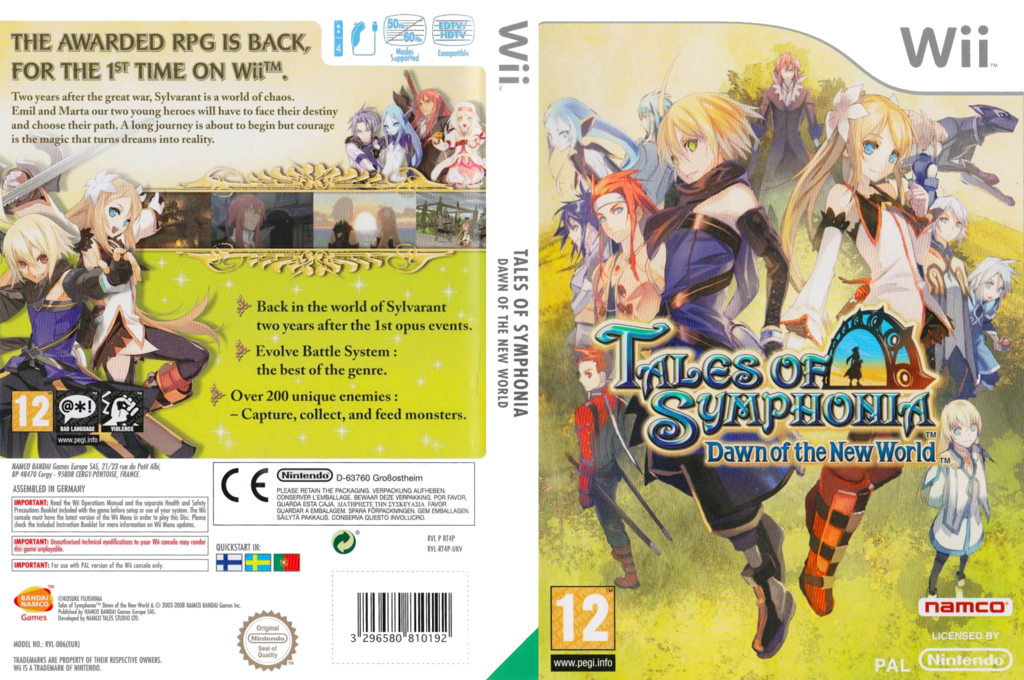 Tales of Symphonia: Dawn of the New World Wii coverfullHQ (RT4PAF)