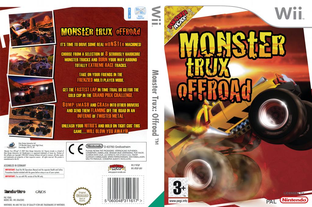 Monster Trux Offroad Wii coverfullHQ (RTQXUG)