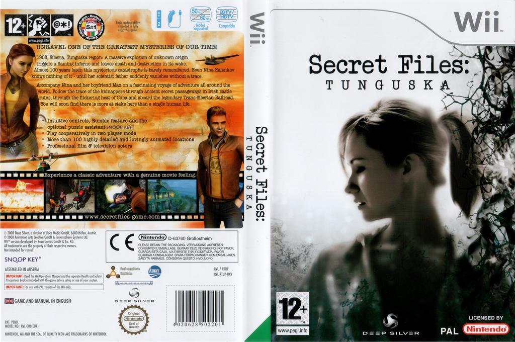 Secret Files: Tunguska Wii coverfullHQ (RTUPKM)