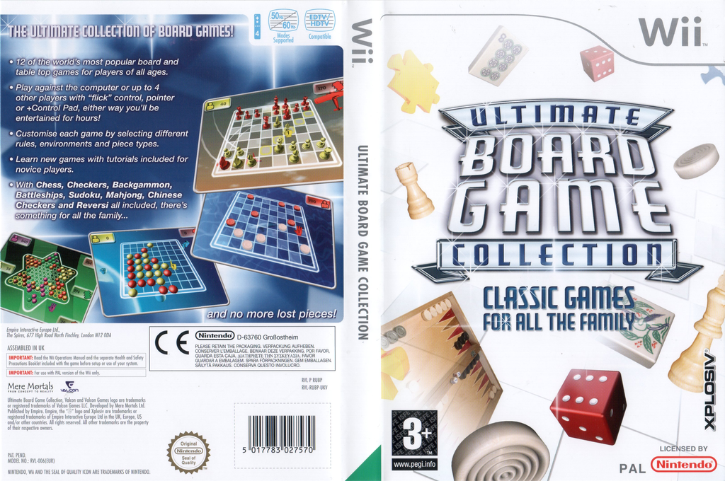 Ultimate Board Game Collection Wii coverfullHQ (RUBP7N)