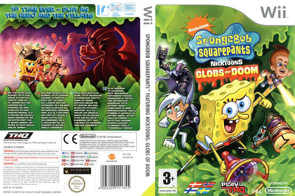 SpongeBob SquarePants featuring Nicktoons: Globs of Doom Wii coverfullHQ (RUSP78)