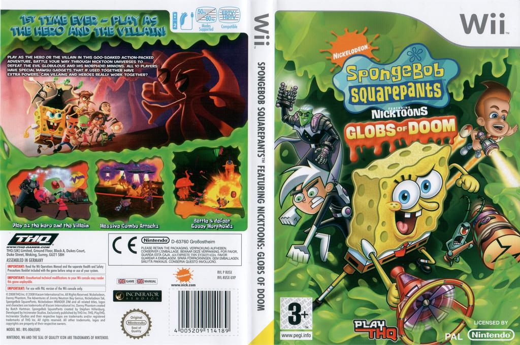 SpongeBob SquarePants Featuring Nicktoons: Globs of Doom Wii coverfullHQ (RUSX78)