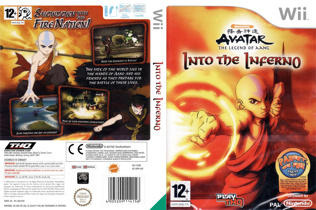 Avatar: The Legend of Aang - Into the Inferno Wii coverfullHQ (RV9P78)