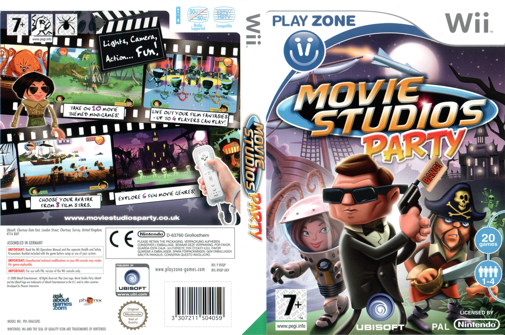 Movie Studios Party Wii coverfullHQ (RVQP41)