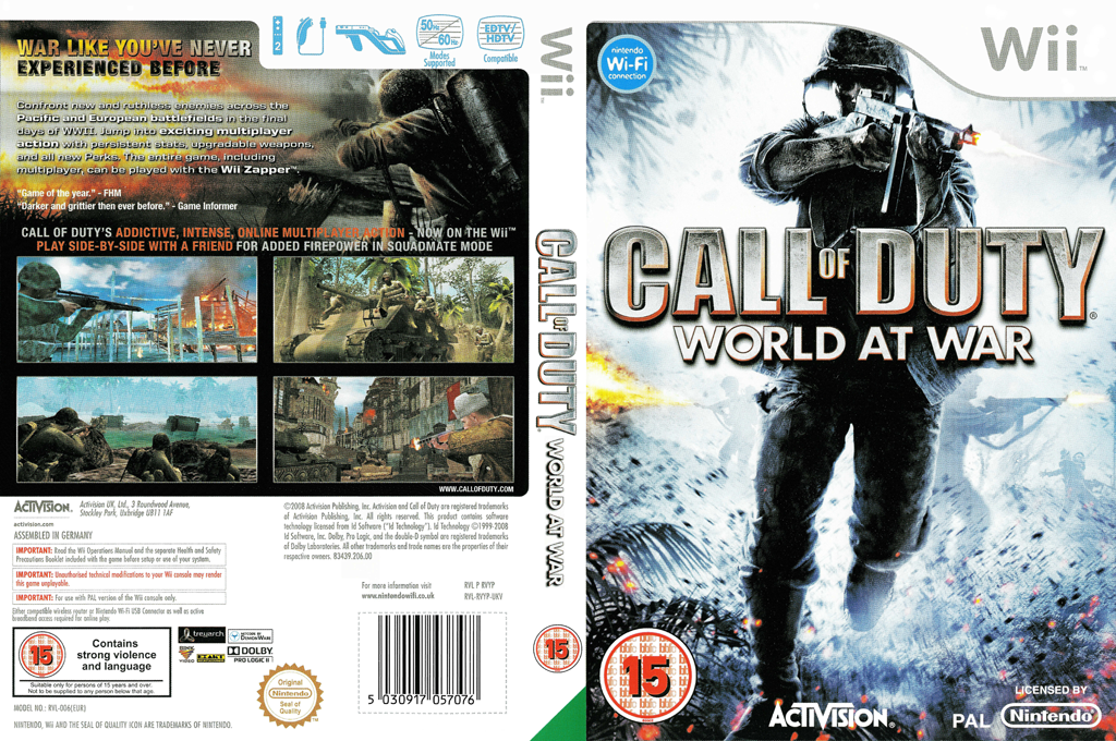 Call of Duty: World at War Wii coverfullHQ (RVYY52)