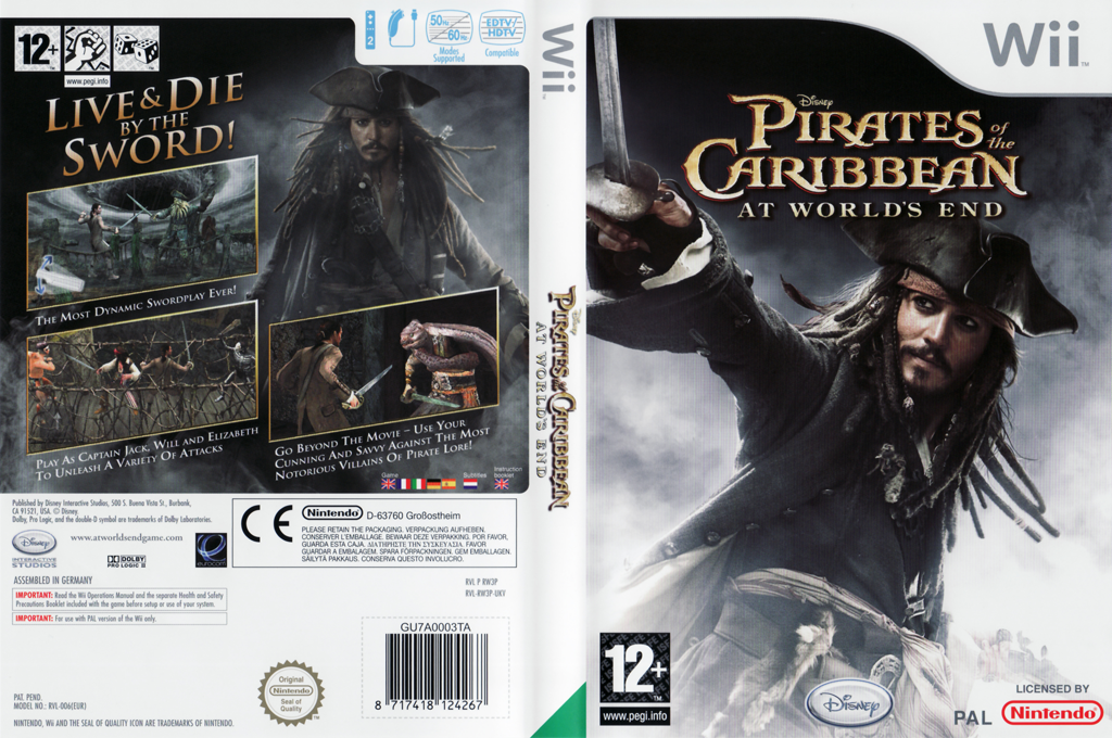 Pirates Of The Caribbean: At World's End Wii coverfullHQ (RW3P4Q)