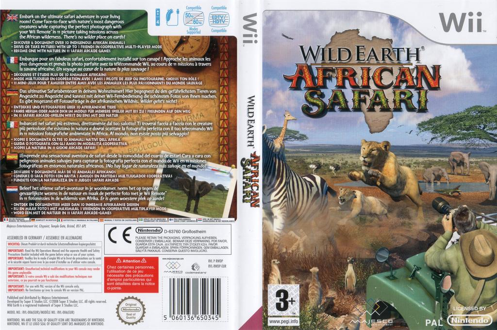 Wild Earth: African Safari Wii coverfullHQ (RWDP5G)