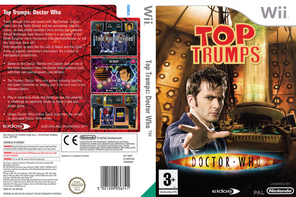 Top Trumps: Doctor Who Wii coverfullHQ (RWHP4F)