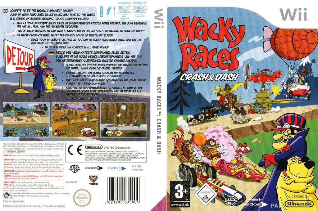 Wacky Races: Crash & Dash Wii coverfullHQ (RWRP4F)