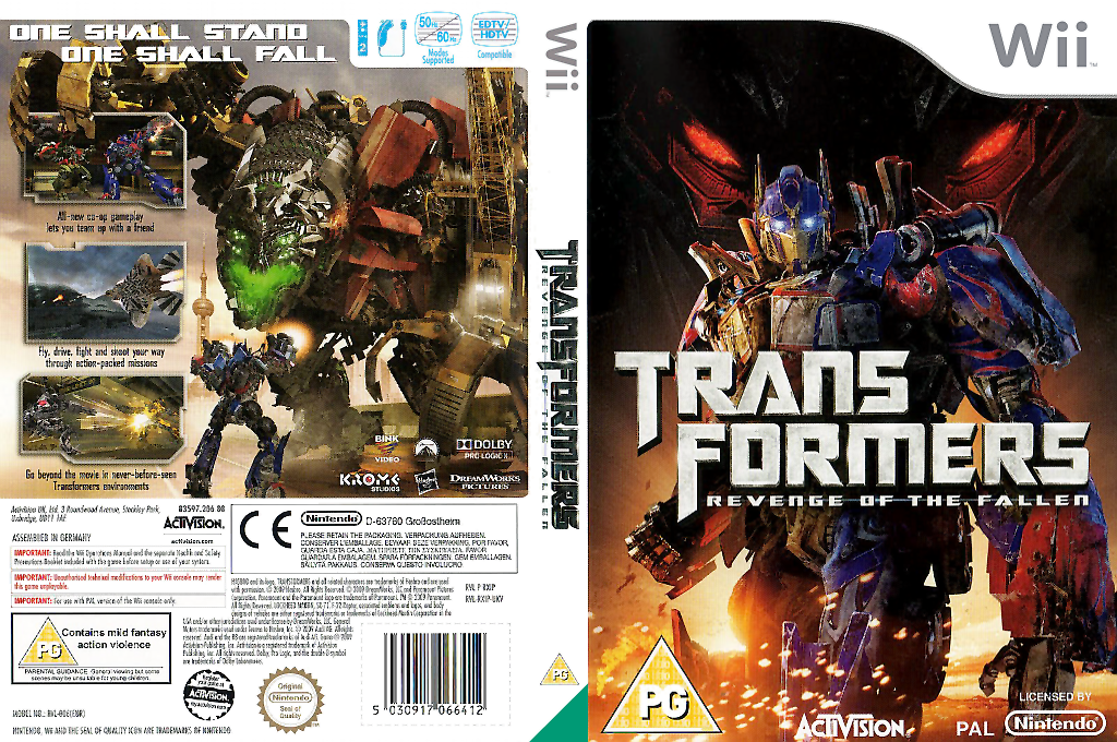 Transformers: Revenge of the Fallen Wii coverfullHQ (RXIP52)