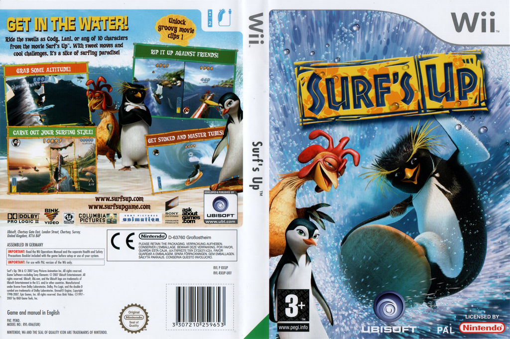 Surf's Up Wii coverfullHQ (RXUP41)