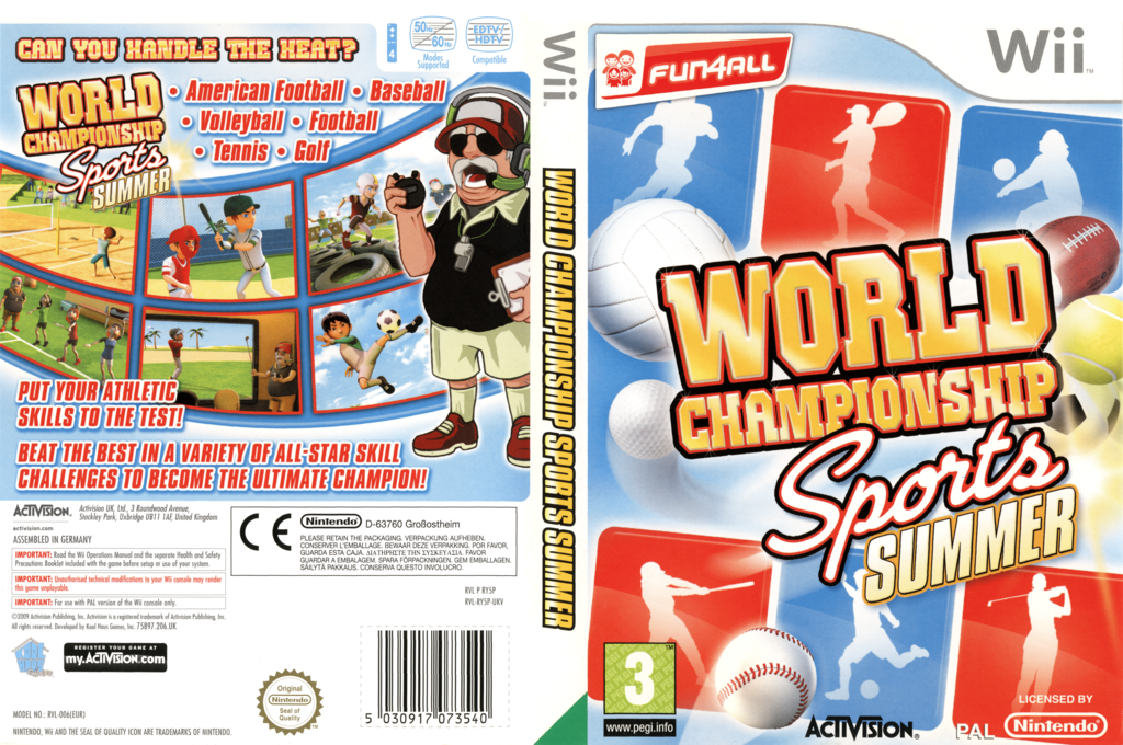 World Championship Sports: Summer Wii coverfullHQ (RY5P52)