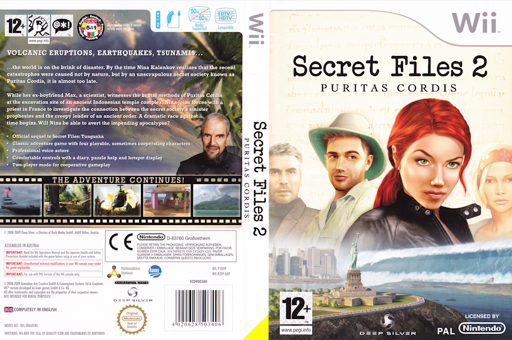 Secret Files 2: Puritas Cordis Wii coverfullHQ (RZFPKM)