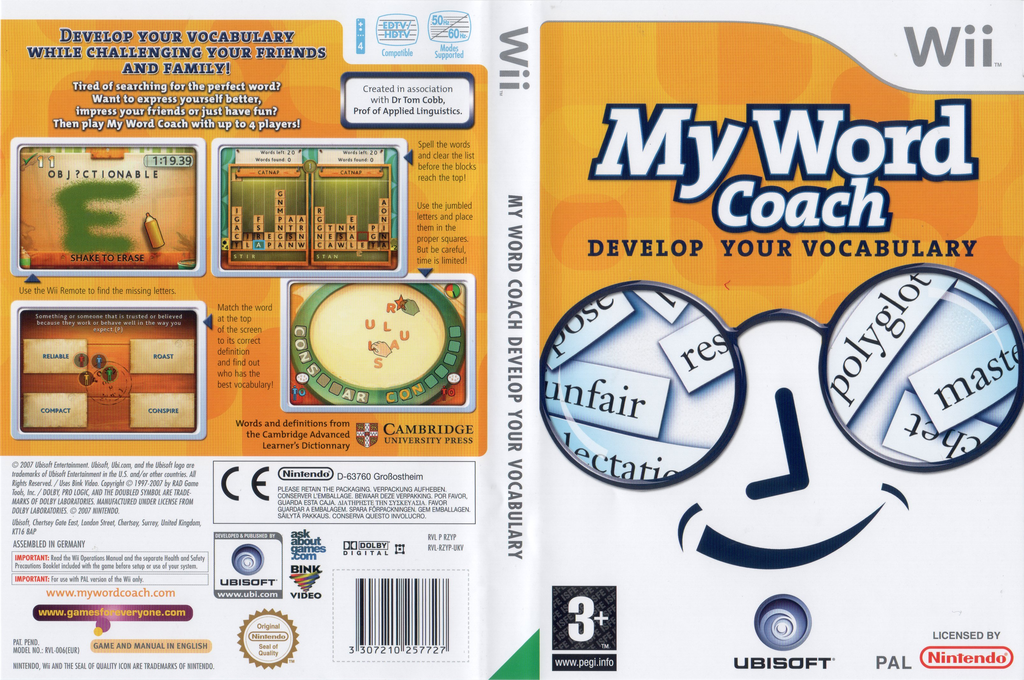 My Word Coach: Develop your vocabulary Wii coverfullHQ (RZYP41)