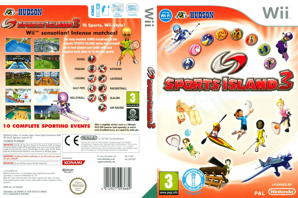 Sports Island 3 Wii coverfullHQ (S3DP18)