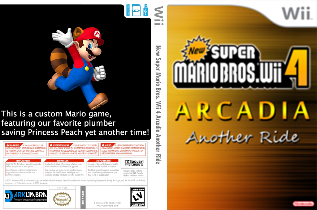 New Super Mario Bros. Wii 4 Arcadia Another Ride Wii coverfullHQ (SARP01)