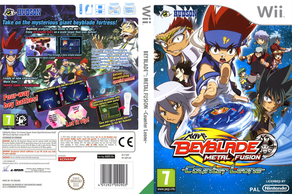 Beyblade: Metal Fusion - Counter Leone Array coverfullHQ (SBBP18)