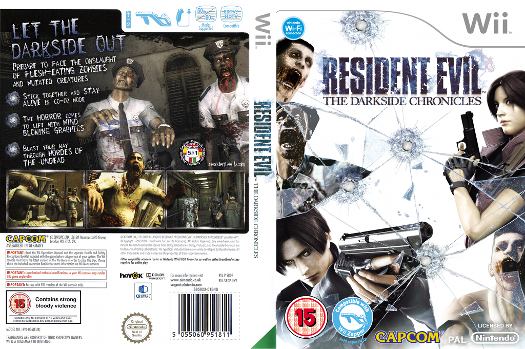 Resident Evil: The Darkside Chronicles Wii coverfullHQ (SBDP08)