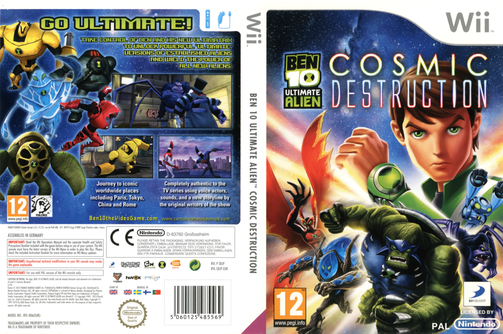 Ben 10: Ultimate Alien Cosmic Destruction Wii coverfullHQ (SBJPAF)