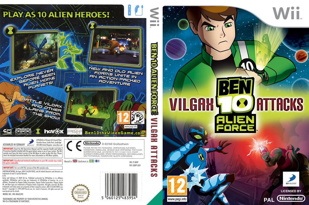 Ben 10: Alien Force Vilgax Attacks Wii coverfullHQ (SBNPG9)