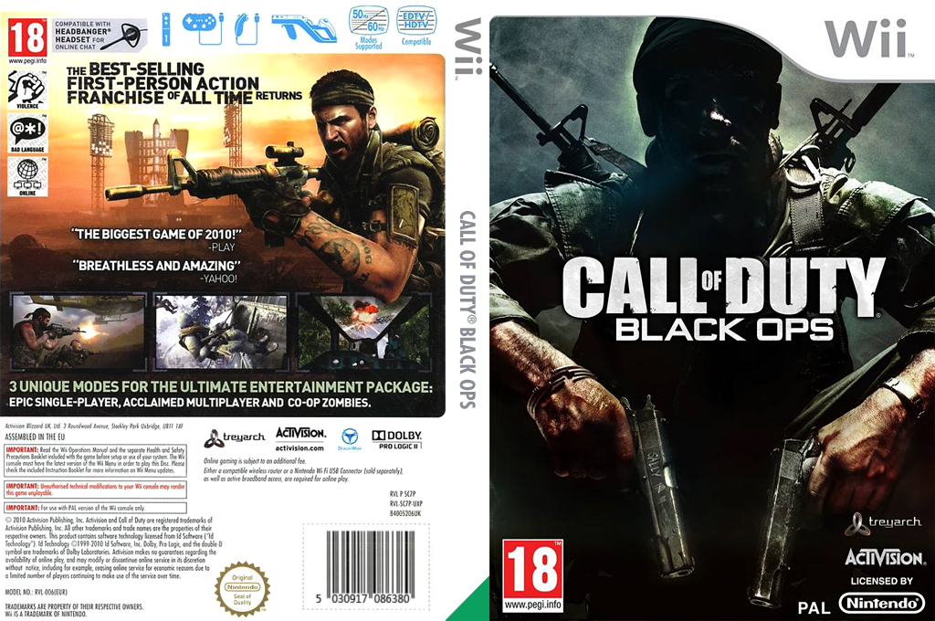 Call of Duty: Black Ops Wii coverfullHQ (SC7S52)