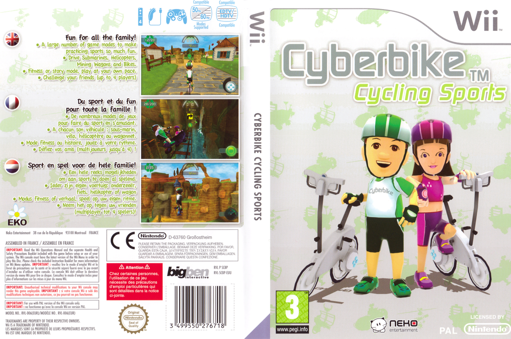 Cyberbike Cycling Sports Wii coverfullHQ (SCBPNK)