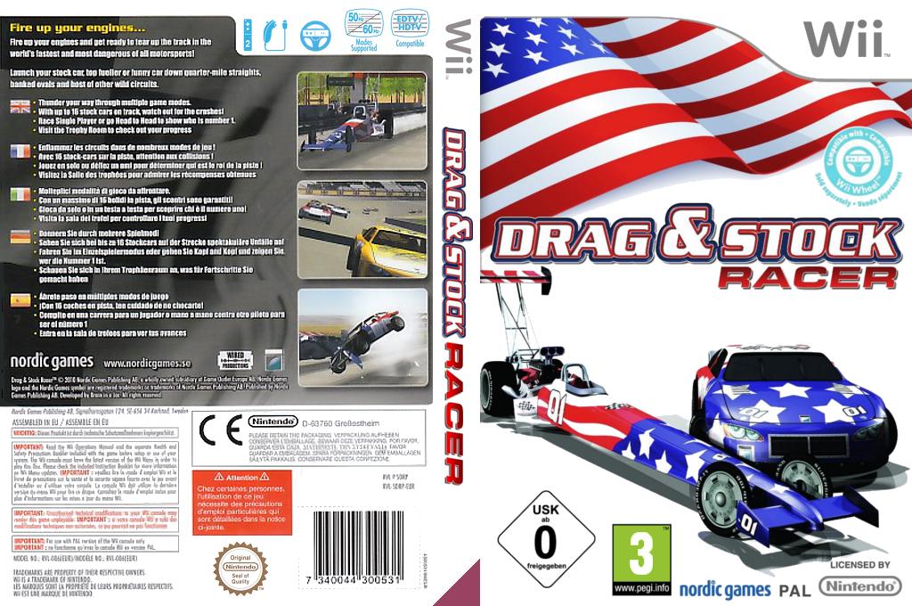 Drag & Stock Racer Wii coverfullHQ (SDRPNG)