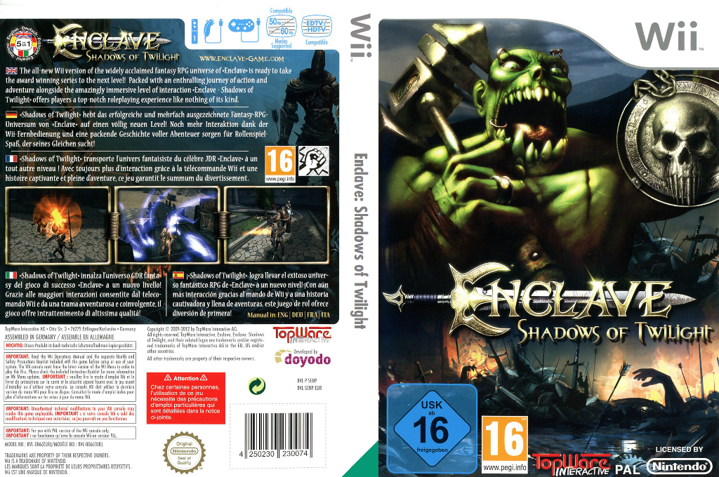 Enclave: Shadows of Twilight Wii coverfullHQ (SENPZX)