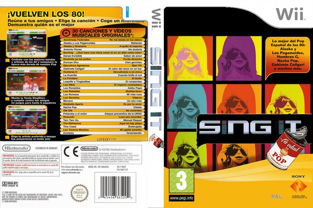 Sing It: Edad de Oro del Pop Español Wii coverfullHQ (SEOP4Q)