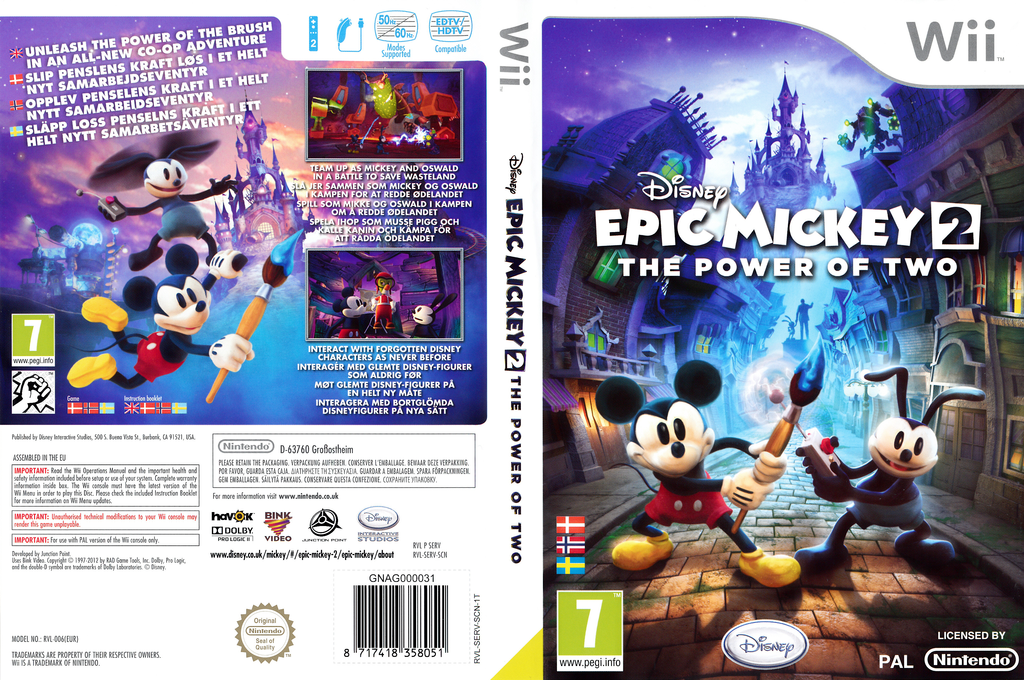 Disney Epic Mickey 2: The Power of Two Wii coverfullHQ (SERV4Q)