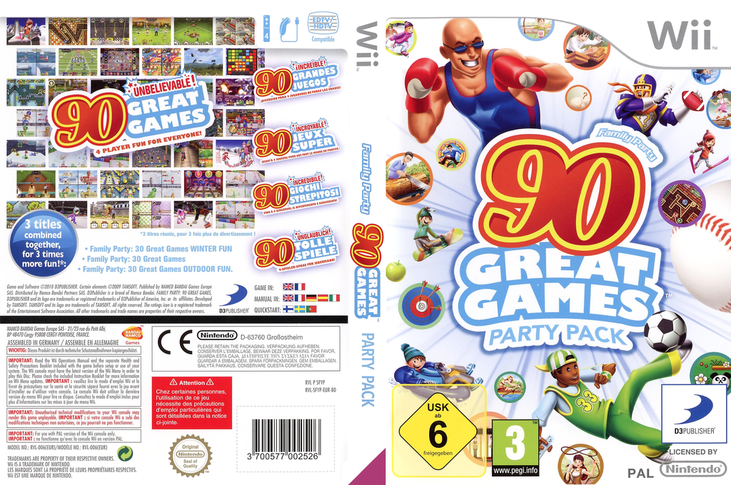 Family Party: 90 Great Games Party Pack Wii coverfullHQ (SFYPAF)