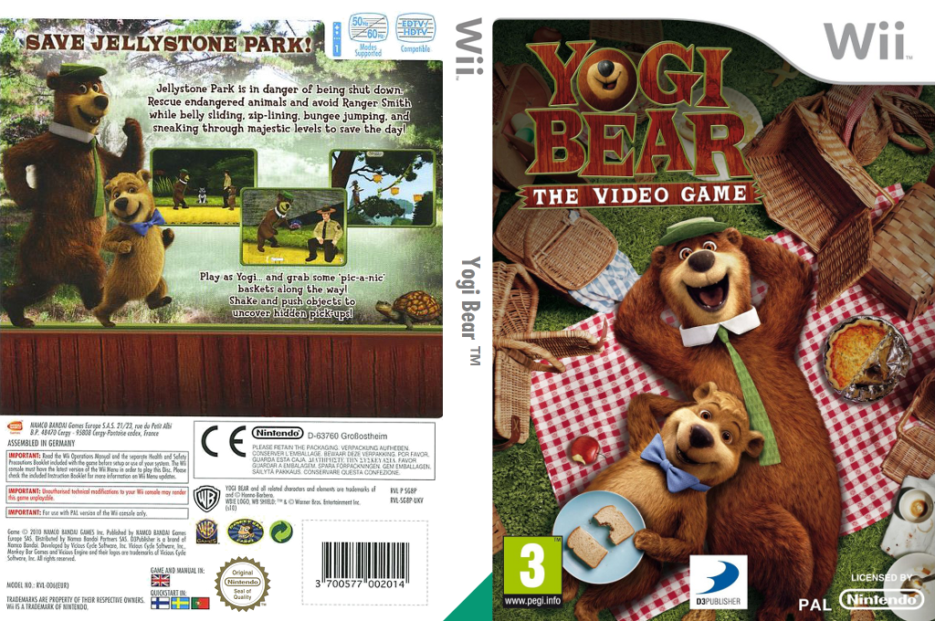 Yogi Bear: The Video Game Wii coverfullHQ (SG8PAF)