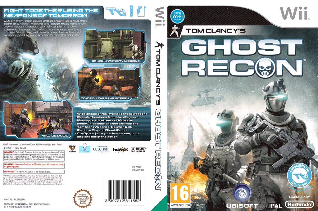 Tom Clancy's Ghost Recon Wii coverfullHQ (SGHP41)
