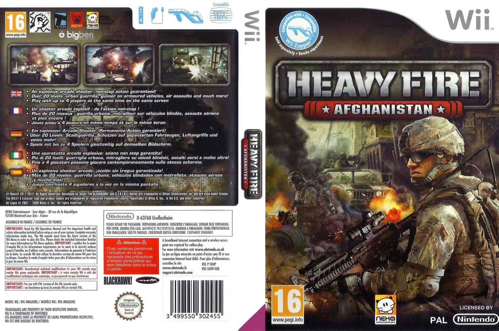 Heavy Fire: Afghanistan Wii coverfullHQ (SH4PNK)